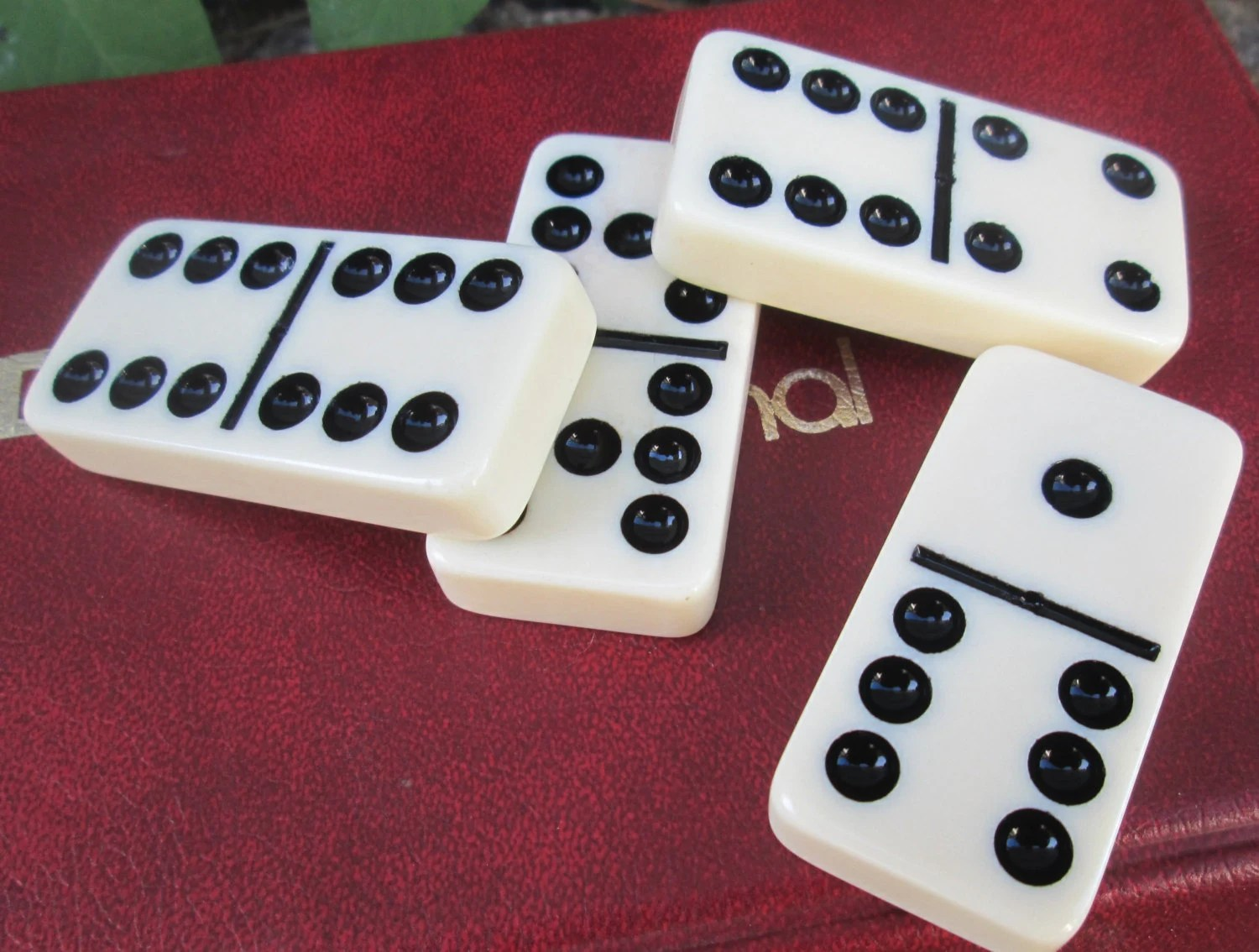 Domino By Cardinal Double 9 Set Dominoes In Vinyl Case