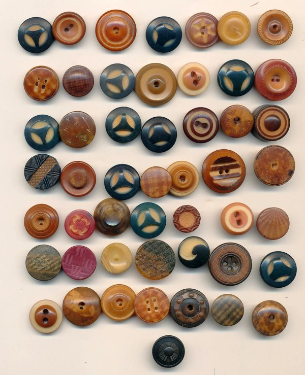Reduced Antique Vintage Tagua Nut Buttons Lot 4 50