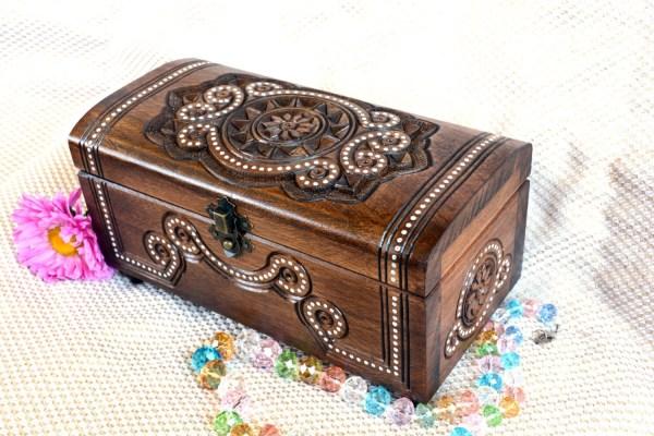 Personalized Wood Jewelry Box