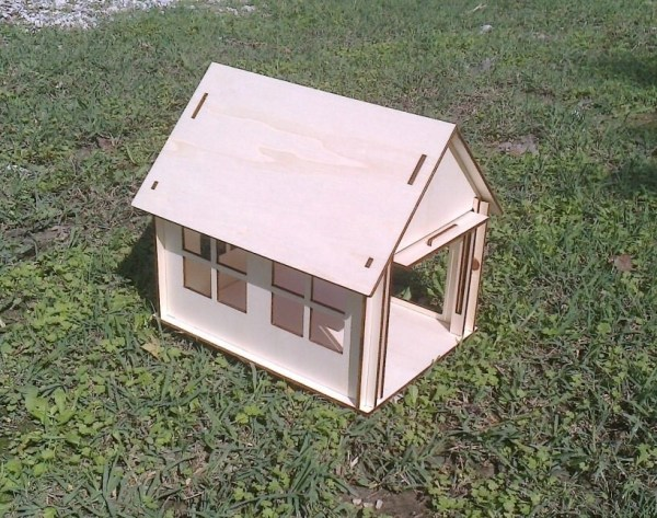 Wooden Small Garage Dollhouse Plywood Kit