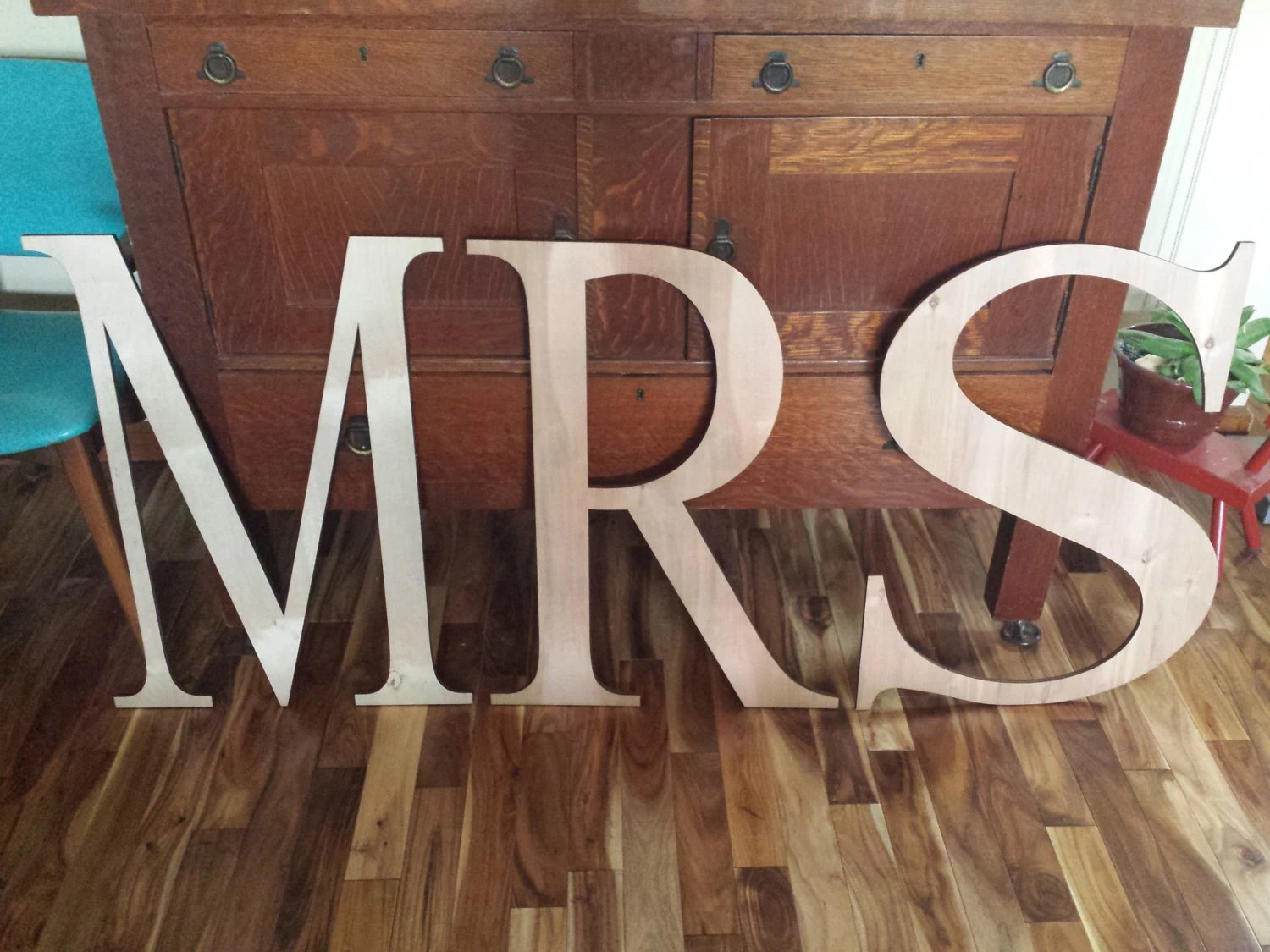 Wedding Decor Wood Letters Large Letters Mr & Mrs By RayMels