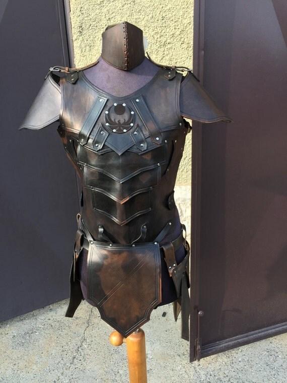 NIGHTINGALE LEATHER ARMOR Male Version Complete Set Larp