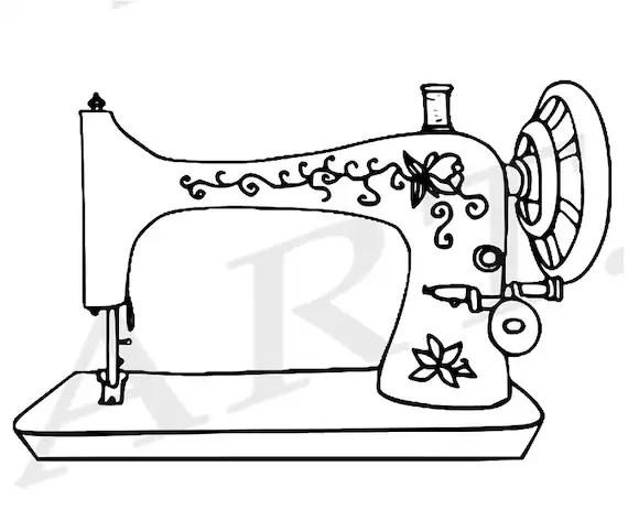 50% OFF Sewing Machine Clipart, Sewing Machine Clip art