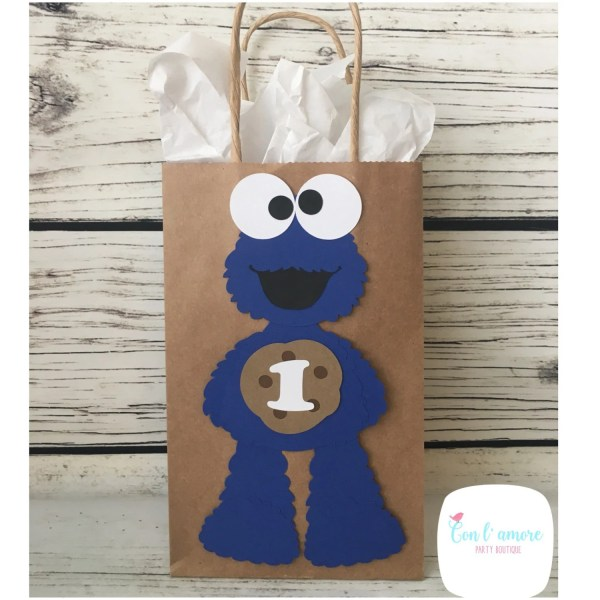Sesame Street Cookie Monster Birthday Party Favor Bags
