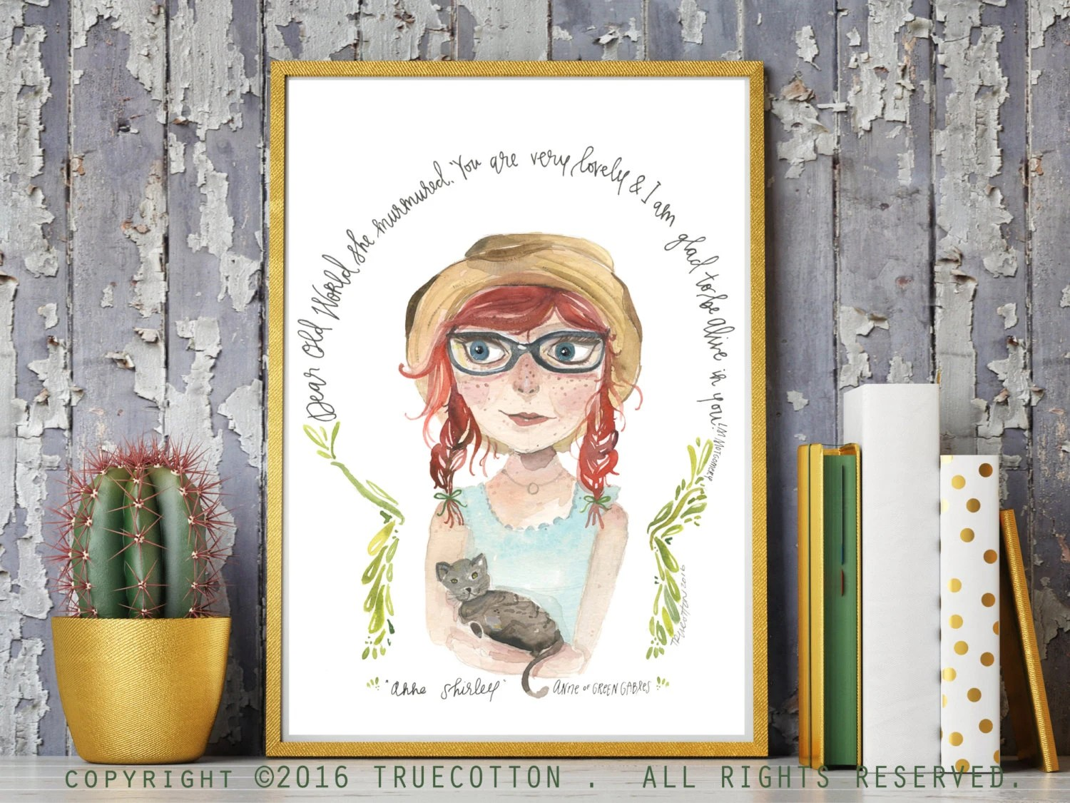 Anne Of Green Gables Print By Truecotton On Etsy