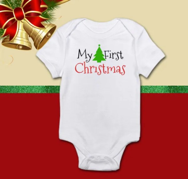 My First Christmas Baby Onesie by SarahJayDesign on Etsy
