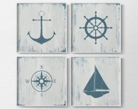 Nautical Decor Nautical Nursery Nautical Wall Art Rustic