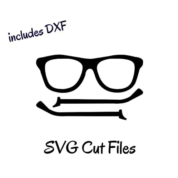 NERDY GLASSES, Silhouette cutting file, svg, dxf and pdf