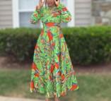 African Print Long Maxi Dresses