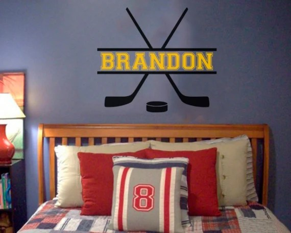 Personalized Hockey Wall Decal by WordFactoryDesign