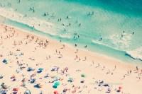 Beach photography aerial beach print large beach decor
