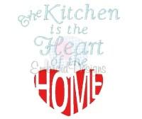 Kitchen Machine Embroidery Design 010715 Heart by ...