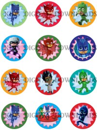 PJ masks cupcake topper Pj masks decor Pj by DDCustomPrinting