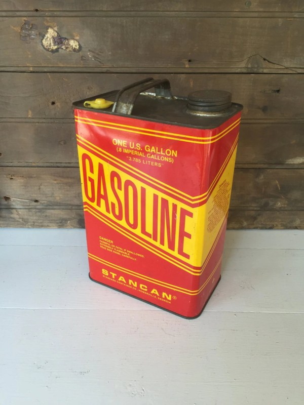 Vintage Metal Gas Gasoline 1 Gallon Thevicarsdaughterco