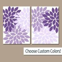 Purple WALL Art Canvas or Prints Lavender Bathroom Artwork