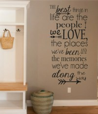 Vinyl Wall Decal-The Best Things in Life People Love