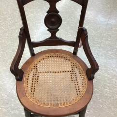 Cane Bottom Chairs Steel Chair Covers Antique Walnut Hip Rest 1800 39s