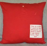 Keepsake Pillow Memory Pillow Cover Shirt Memory Pillow