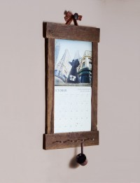 Rustic Barn Wood Calendar Holder Reclaimed Calendar Frame