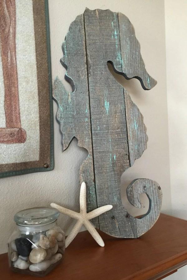Large Seahorse Wall Art Ocean Decor Handmade