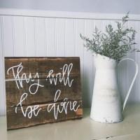 Christian wall art Scripture home decor wood sign