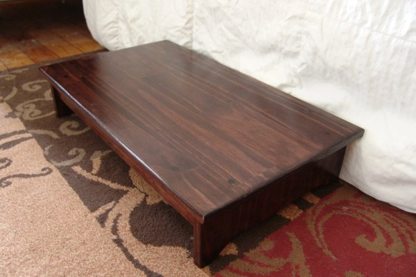 Wood Bed Step Stool