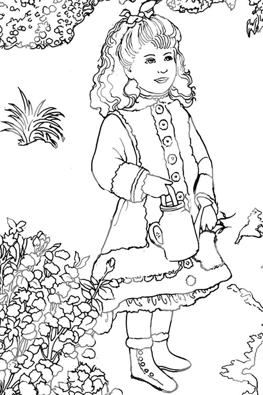 Renoir Coloring Page for Adults Digital Procreate by