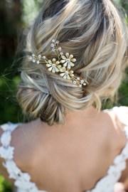 gold leaf laurel hair comb boho