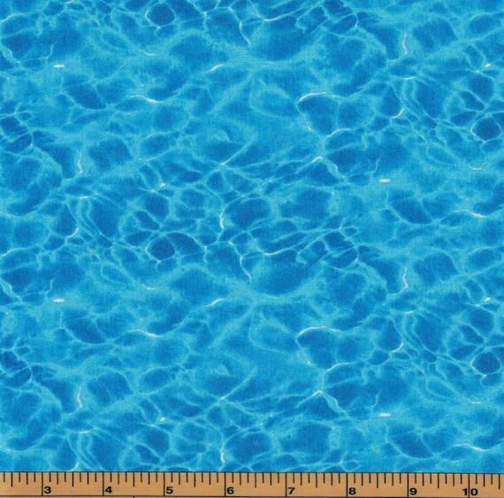 landscape medley blue water fabric
