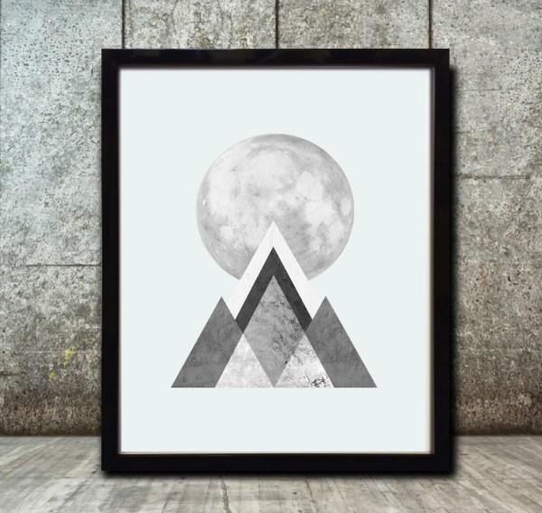 Geometric Art Prints Abstract Nordic