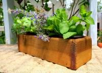 Cedar Herb Planter Box Indoor Planter Window by ...
