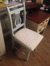Painted Laura Ashley Duck Egg Blue Chair by StateofDistress