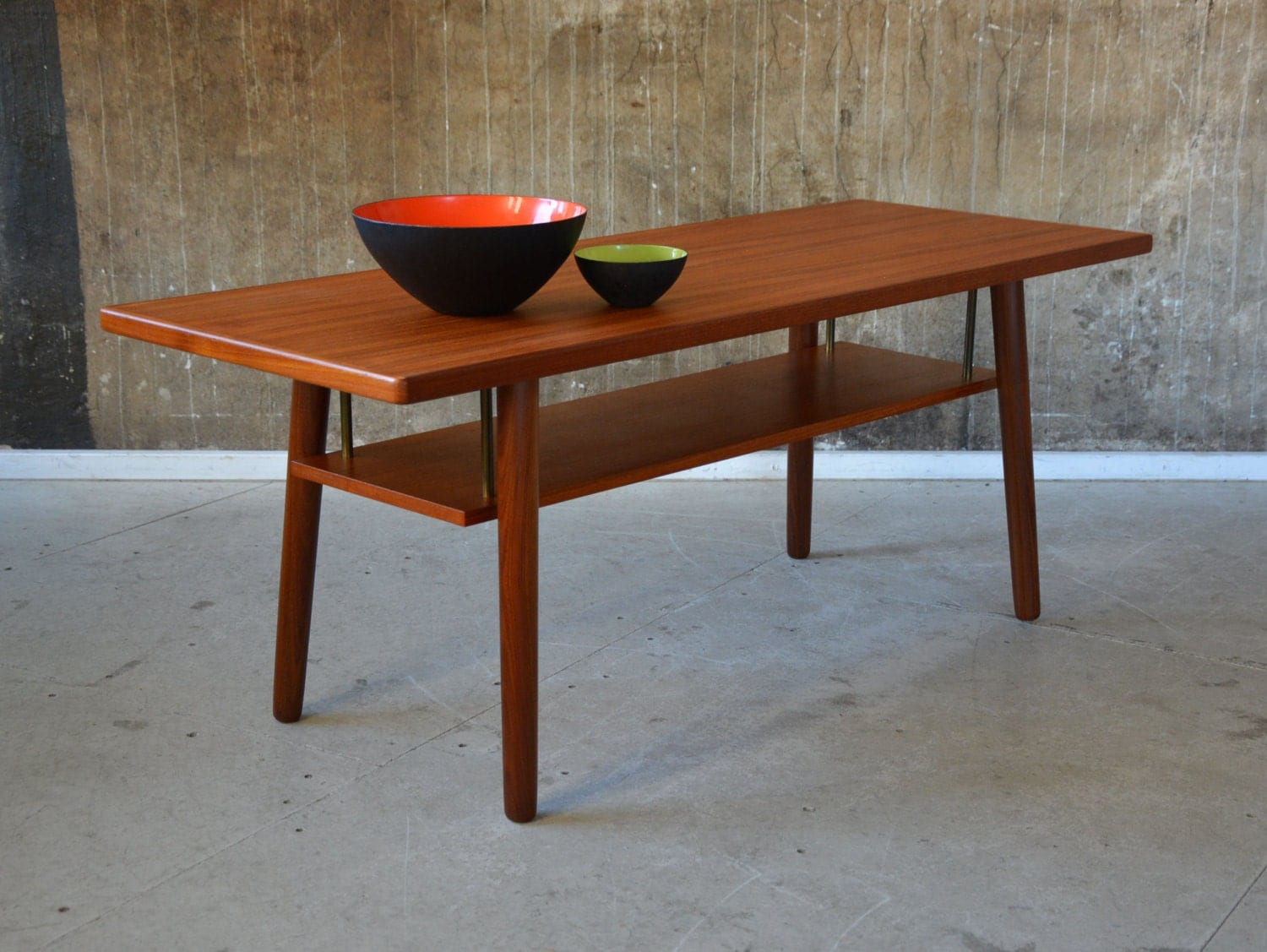 60er Teak COUCHTISCH danish design 60s COFFEE TABLE sofa