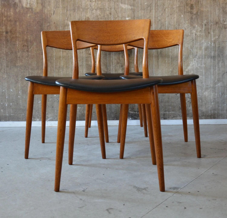 4x 60er esszimmerst hle eiche midcentury 60s vintage oak. Black Bedroom Furniture Sets. Home Design Ideas