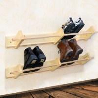 Wall Mounted Wooden Shoe Rack Hanger Shoe Organizer custom
