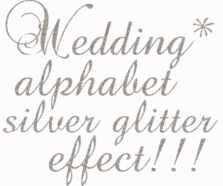 Silver Glitter Alphabet Clipart Glitter Alphabet