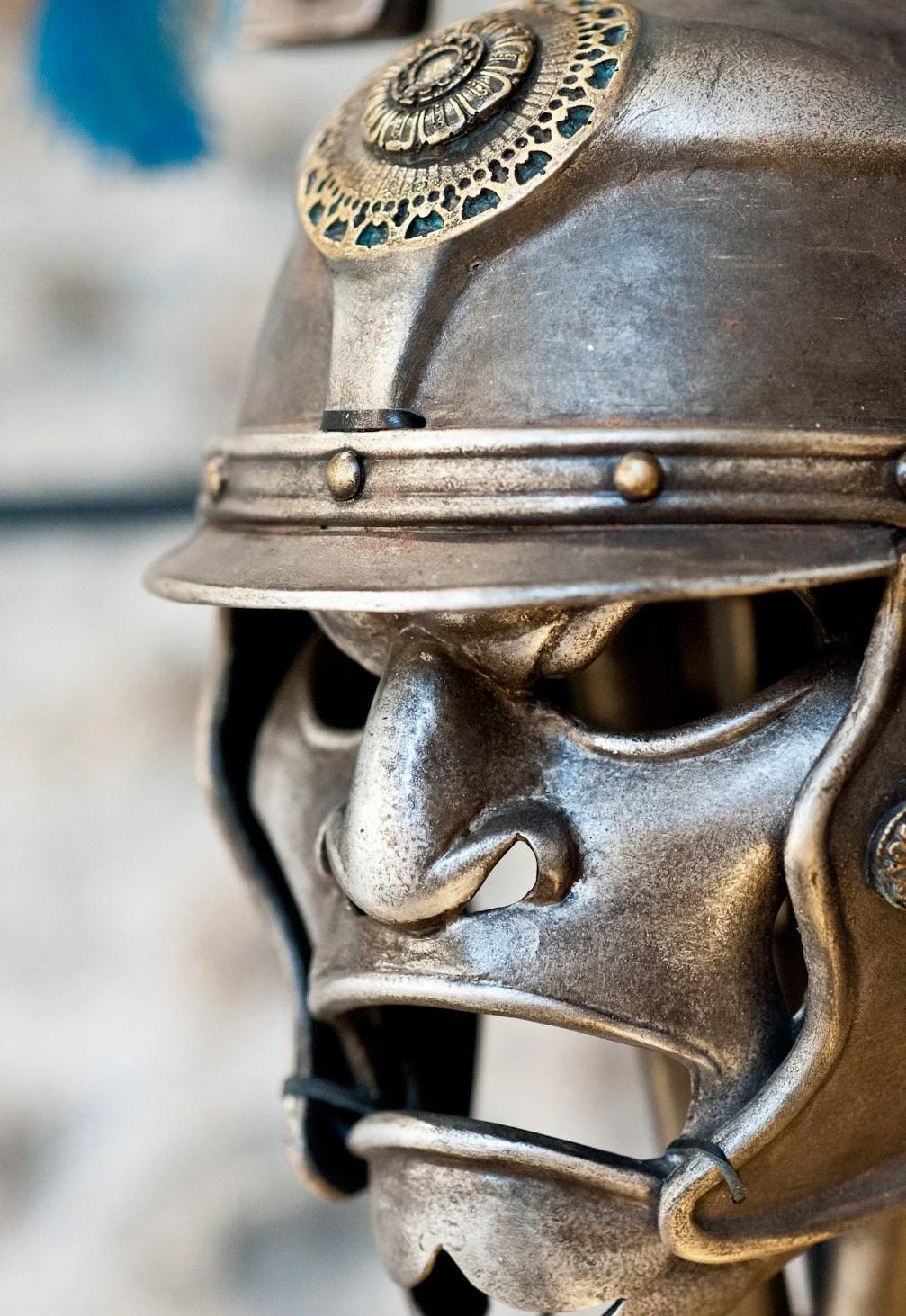Ancient Helmet Metal Helmet Roman Centurion by BirdArtBulgaria