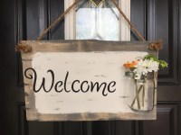 Front door welcome sign Front porch welcome sign by ...