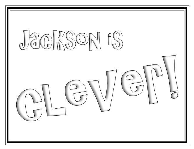 31 Printable Name Coloring Pages / Color Your Name / Custom