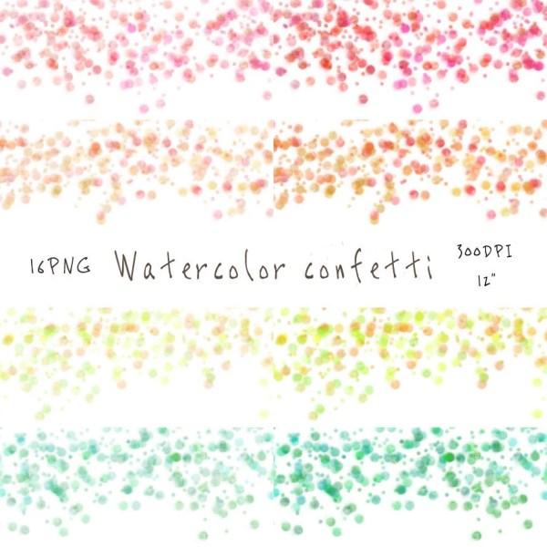 16 watercolor confetti