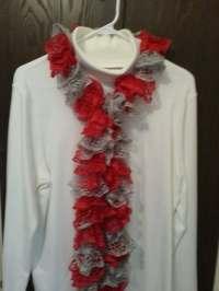 Women's Scarf Sashay Yarn Handmade Knitted by DebsDooDadsShop