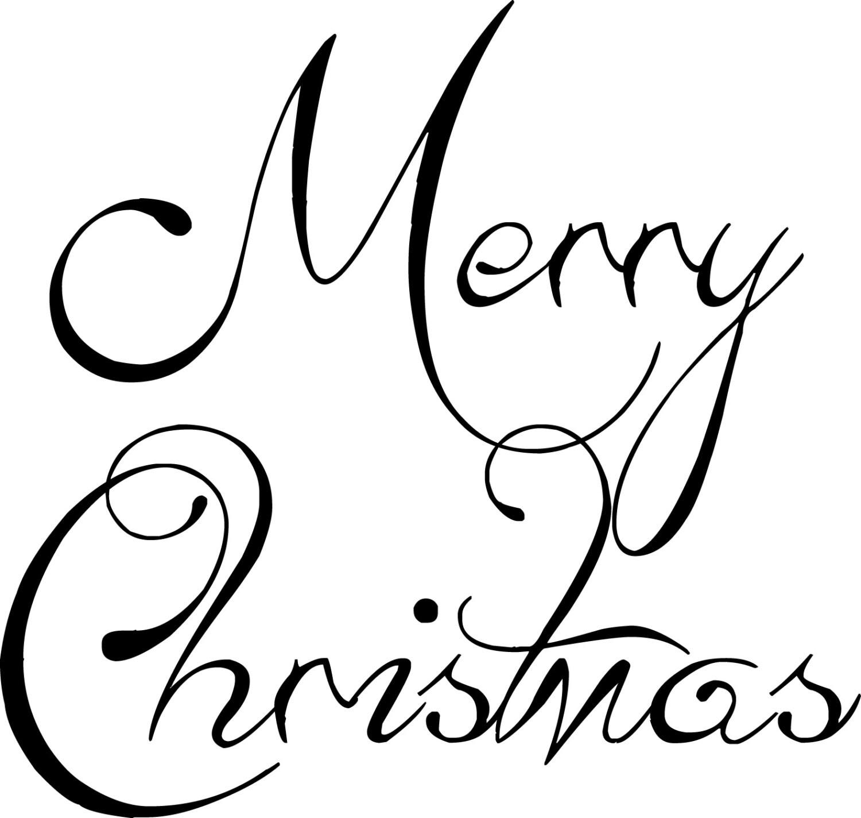 Merry Christams Ornament Word Art, Digital Cutting File