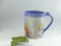 Unique Coffee Mugs Handmade ceramic cup by BlueSkyPotteryCO