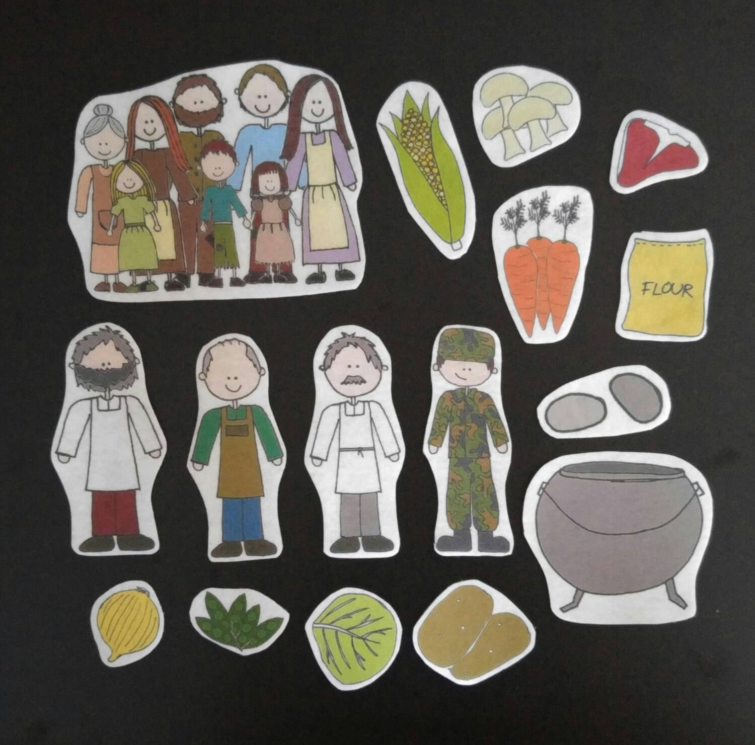 Stone Soup Flannel Board Stories Felt Set A Lesson In