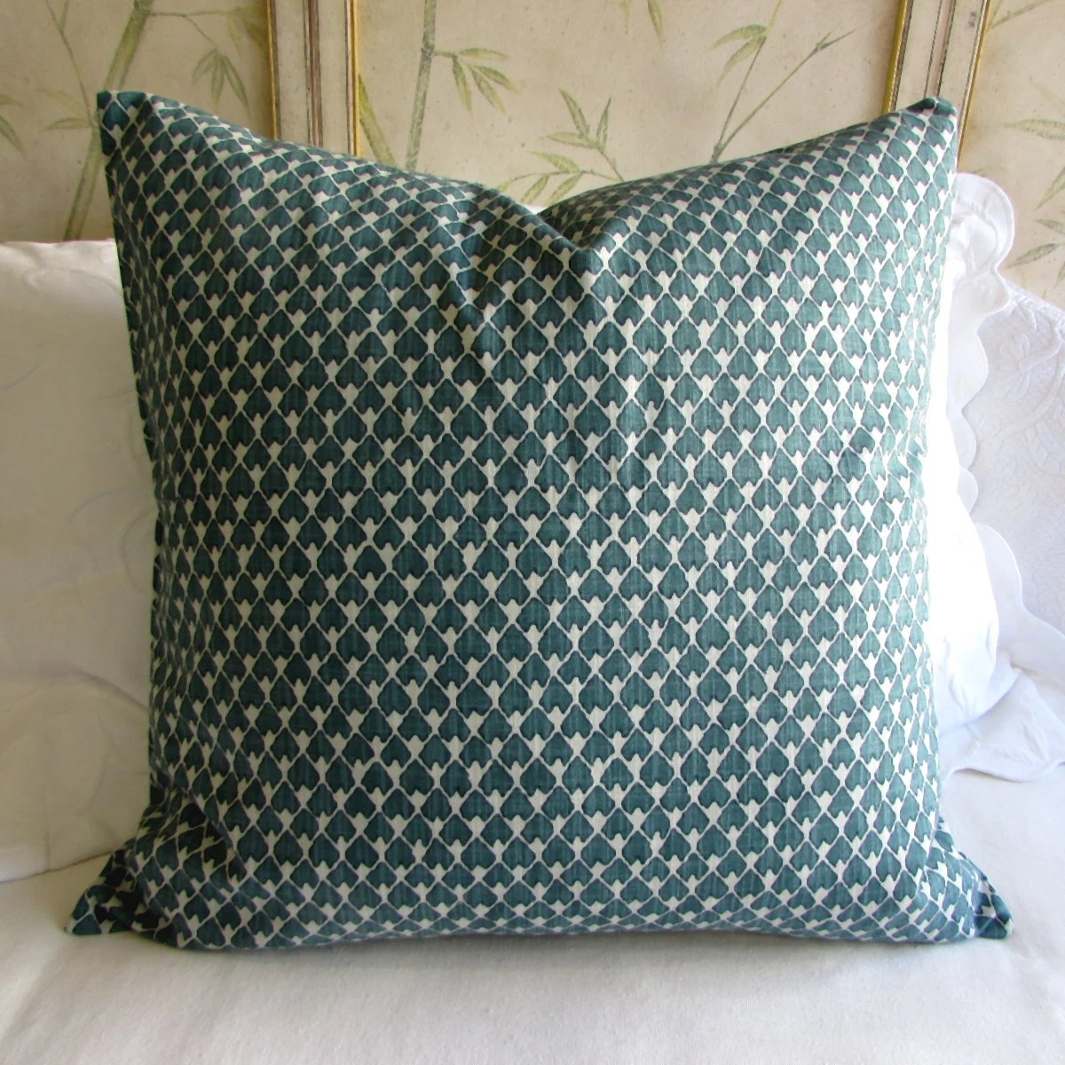EURO PILLOW COVER 26x26 diegoprussian blue