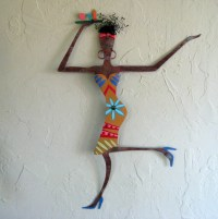 Metal Sculpture African Wall Art Recycled Metal Exotic