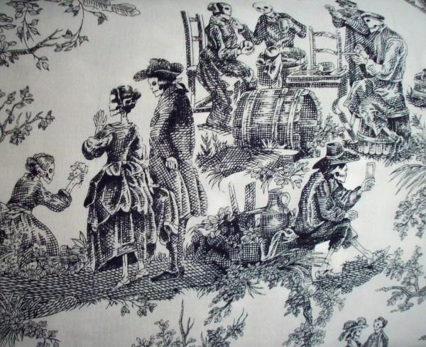 Skeleton Toile Fabric Yard Alexander