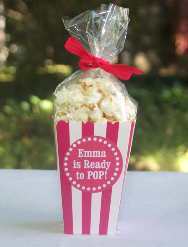 Custom Popcorn Box Favors Personalized Modernzebradesign