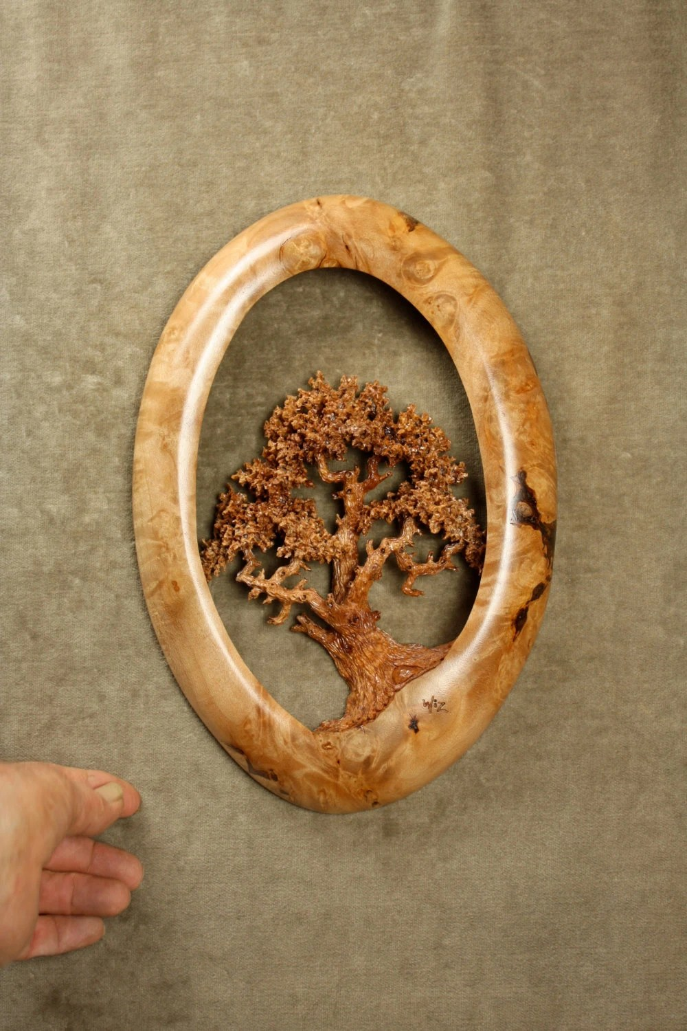 Unique Oak Tree wood carving home wall decor the perfect