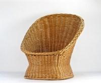 Mid Century Wicker Chair Boho Wicker Chair Wicker Chair